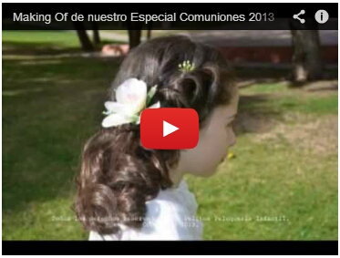 Making Of de nuestro Especial Comuniones 2013